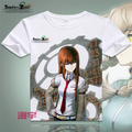 Steins Gate T-shirt Anime Okabe Rintarou Cosplay T shirt Fashion Men Women Tops Tees