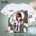 Steins portão T - camisa Anime Okabe Rintarou Cosplay camiseta moda das mulheres dos homens cobre T