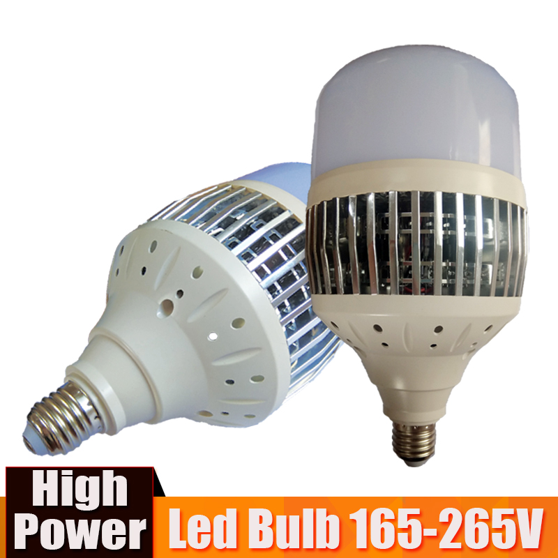 High Power 150W 100W 80W 50W LED Bulb Light E27 E40 220V LED Lamp High Bright Lampada Led Bombillas for Warehouse Factory Square high bright 50w 100w 150w 2835 smd 50 100 150leds led lamp bulb e27 pure white led light bulb ac220v 110v 6500k for factory