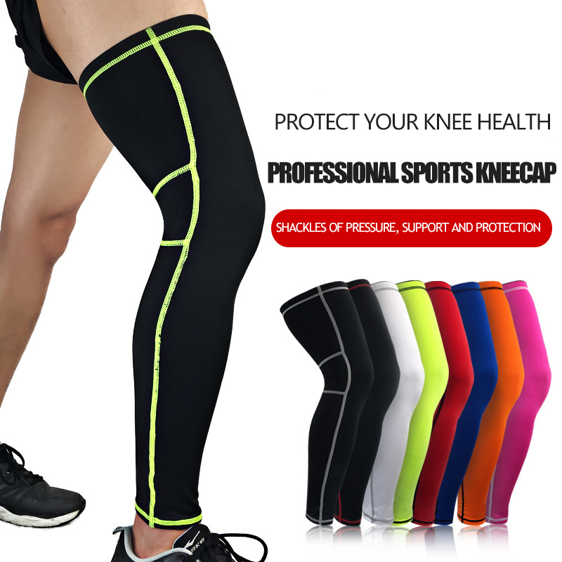 Basketball knee pads outdoor badminton riding running gear longer breathable protective leg tights sports sleeves Leg warmers