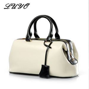 Image 1 - Vintage حقيبة الطبيب الكلاسيكية الموضة حقيبة جلدية أصلية العلامة التجارية الشهيرة مصمم حقائب النساء عالية الجودة السيدات حقيبة جلدية حقيقية