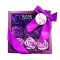 Rosa sabão presente pétalas de rosa sabão de banho com caixa de presente 2020 ano novo dia dos namorados presente romântico por presente de natal artesanal