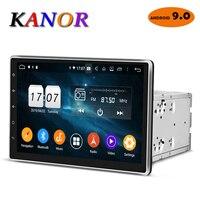 KANOR Android 9.0 Octa Core 4g 10.1 inch IPS 2 din Car GPS DVD Player Bluetooth Stereo Autoradio 2din Car Radio Multimedia