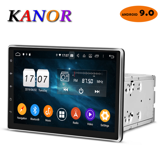 KANOR Android 9.0 Octa Core 4g 10.1 inch IPS 2 din Car GPS DVD Player Bluetooth Stereo Autoradio 2din Car Radio Multimedia