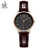 SK Brand Classic Black Women Watches Ladies Quartz Analog Clock Girl Casual Watch Women S Leather