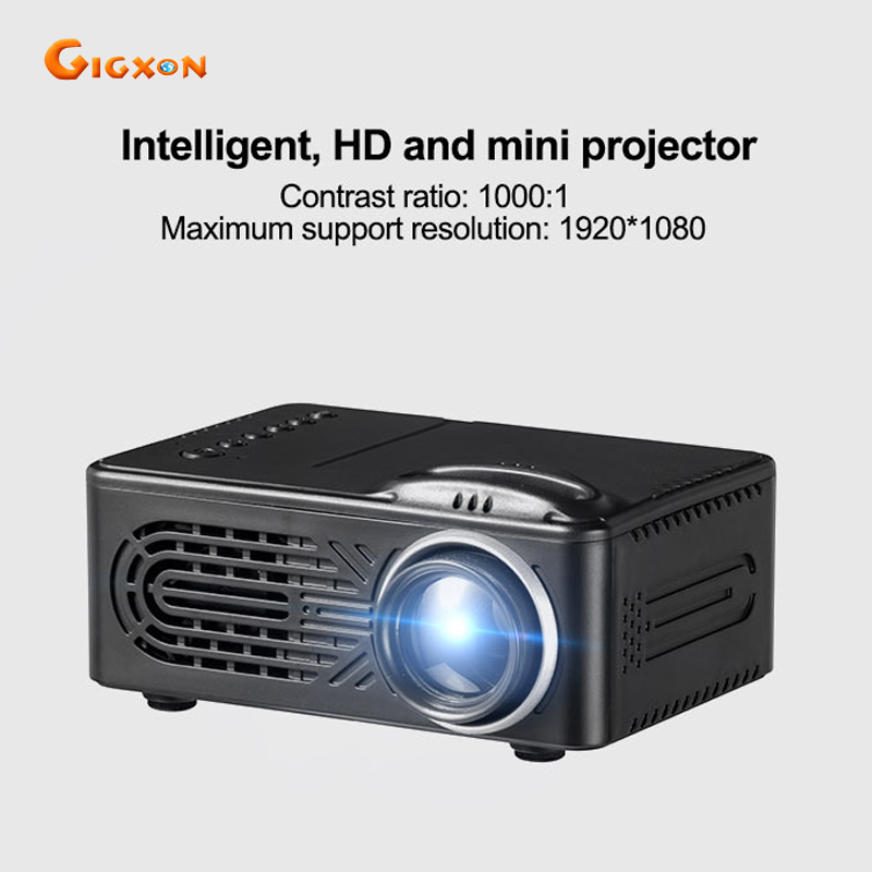 Gigxon G814 mini projector 25 80 inches 30 lumens 1000:1 ratio pocket LED projector NO battery