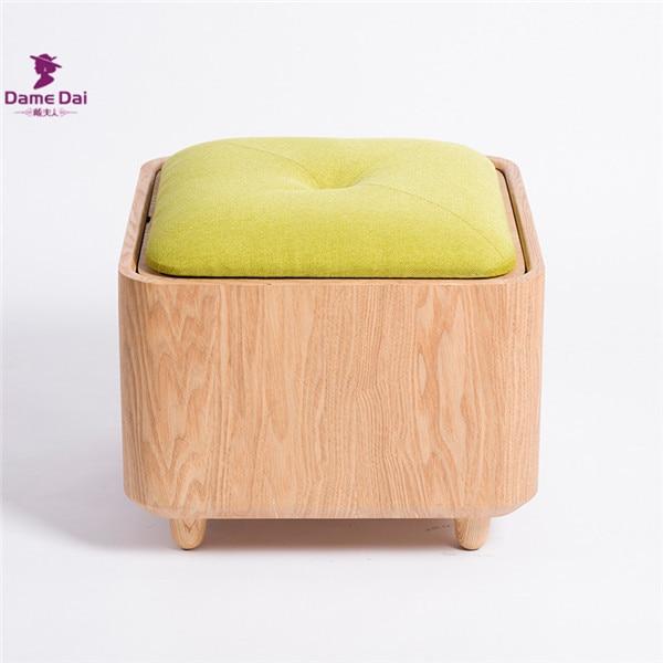 wooden organizer storage stool ottoman bench footrest box coffee table cube ottoman furniture fabric cushion top ottoman seat