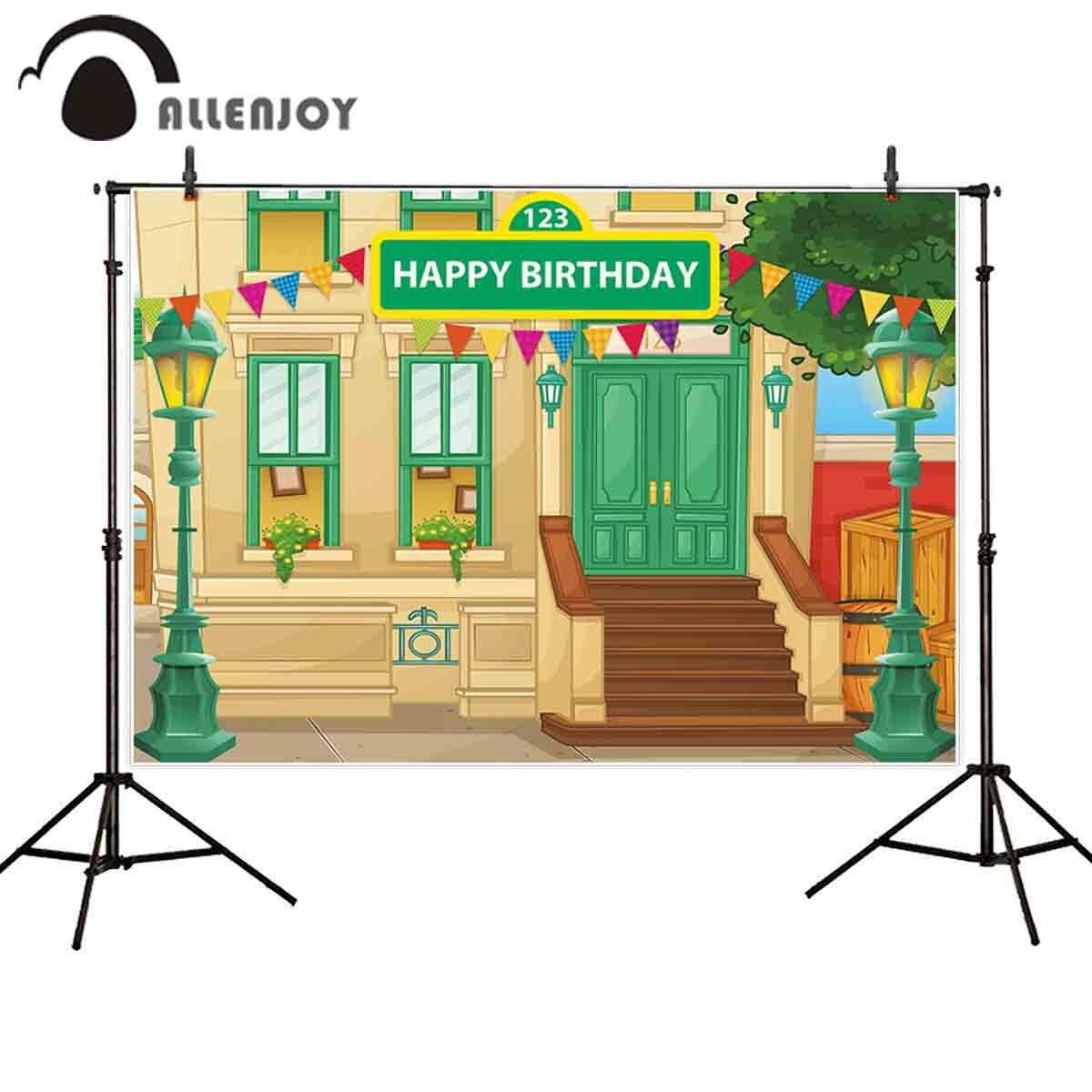 Allenjoy photophone Glücklich Geburtstag Straße lichter bunting cartoon kinder party photo fotografischen kulissen schießen
