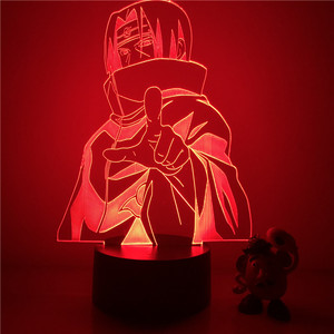 3D LED Night Light Naruto Sasuke Itachi Action Figure 7 Colors Touch Optical Illusion Table Lamp Home Decoration Model