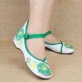 Mulheres Sapatos Velhos Pequim Mary Jane Flats Com Sapatos Casuais Sapatos de Pano Bordado Nacional Chinesa dança sapatos de caminhada Tamanho 35-40