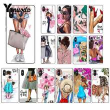 Yinuoda Fashion girl vacation shopping Pattern Phone Case for Xiaomi Mi 6 Mix2 Mix2S Note3 8 8SE Redmi 5 5Plus Note4 4X Note5(China)
