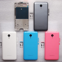 ZUCZUG New Front Frame Back Door Battery Cover SIM Card Tray Housing Case For MEIZU M2