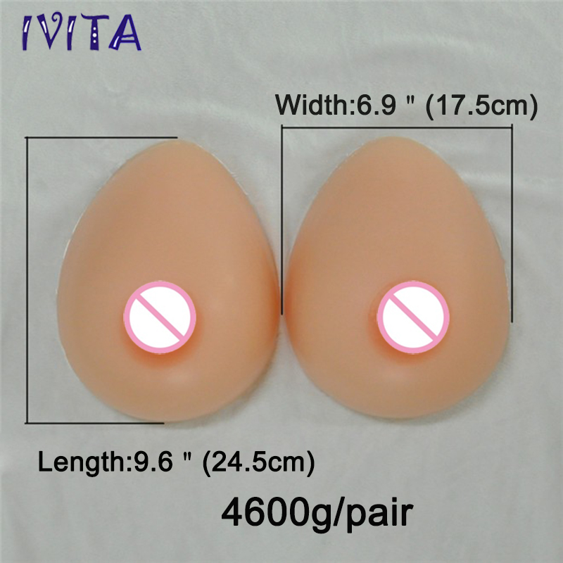4600g/Pair Realistic Silicone Artificial False Fake Breast Boobs Huge Breast Forms Crossdress Transvestite Breast Forms Big Boob  4600g realistic silicone false breast fake boob shemale huge breast forms enhancer crossdress transvestite user dark beige