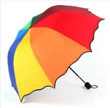 190T Colorful Flouncing Lace Umbrella Rain Women Female Arched Cute Umbrellas Folding Parasol