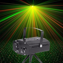 Worldwide Mini Projector R&G DJ Disco Light Stage Xmas Party Laser Lighting Show DJ-BK US PLUG hot sales