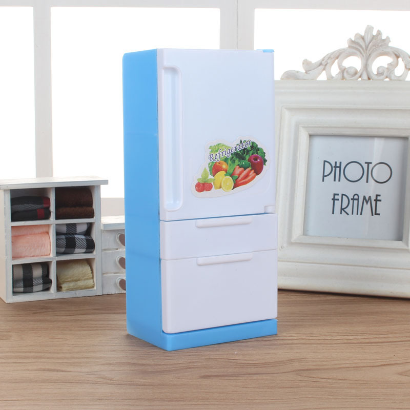 New Doll House Miniature Furniture Fridge Refrigerator for Accessories Classic Simulate Furniture Toys Children Girl Gift in Doll Houses from Toys Hobbies