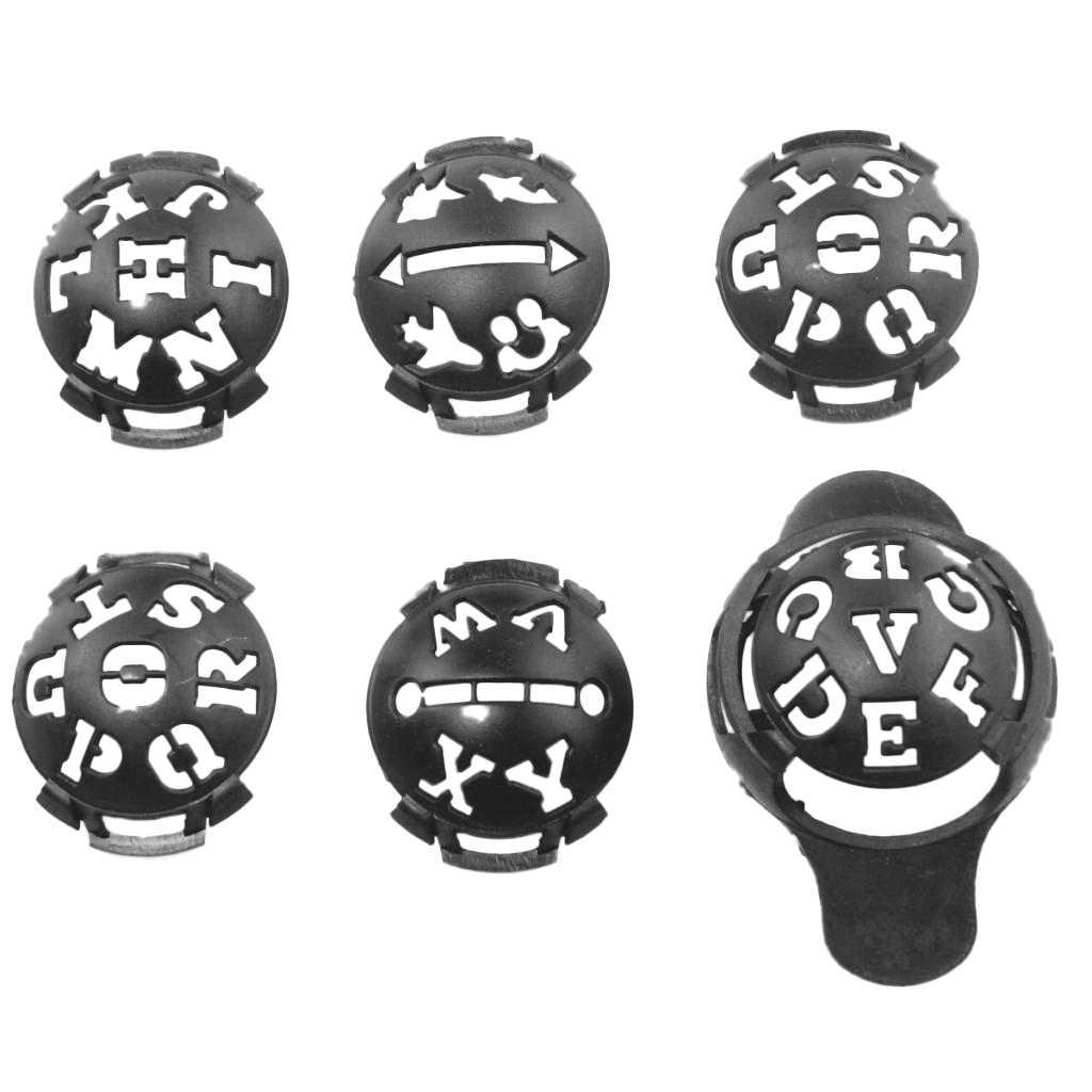 6 Cái/bộ 4X6X5 Cm Chính Xác Nhựa Bóng Golf Dòng Lót Marke Tiêu Bản Vẽ Đánh Dấu Ngăn Kéo Liên Kết dụng Cụ Stencil Golf Truy Cập