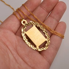 Oval Islamic Pendants Necklaces Muslim Item,Arab Gold Color Jewelry Gifts #066602