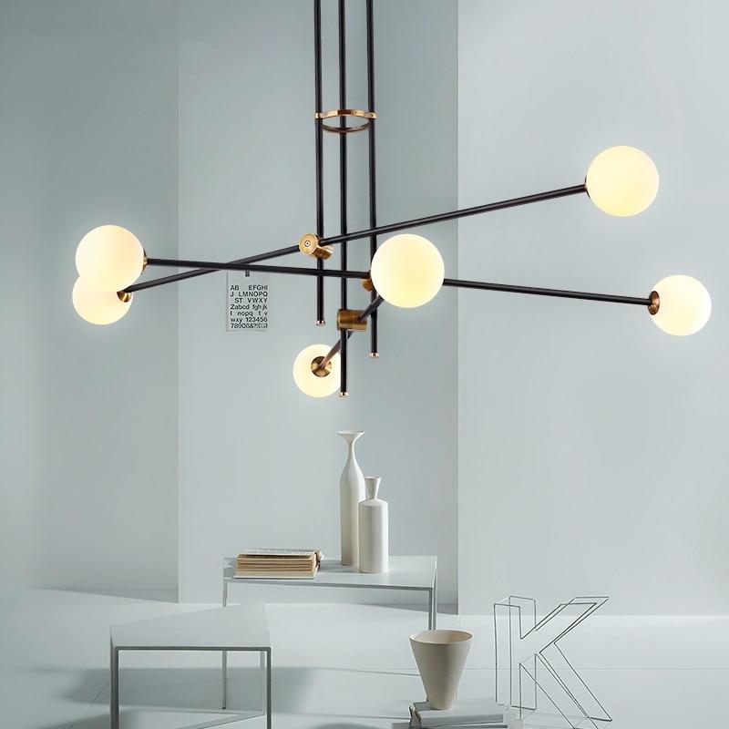 купить Modern LED chandelier Nordic suspended lamp loft deco lighting fixtures living room suspension luminaires bedroom hanging lights по цене 8669.68 рублей