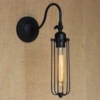 Estilo Loft Edison Decoração Espelho de Parede Arandela Luminária Luminárias de Iluminação Industrial Do Vintage Lâmpada de Parede Para Casa