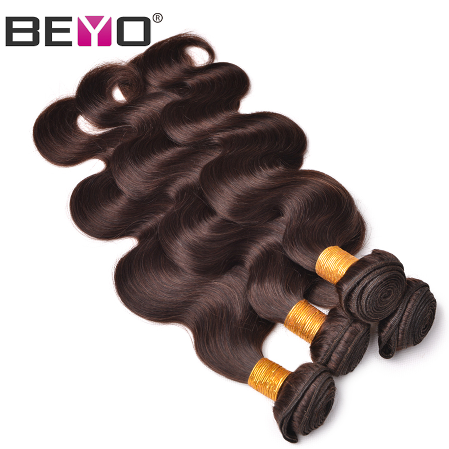 Beyo Hair Brazilian Body Wave Bundles Dark Brown Color 100% Human Hair Weave Bundles 1 PCS Non-Remy Hair Extension Free Shipping