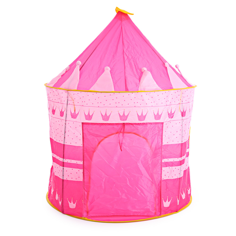 3 Colors Play Tent Portable Foldable Tipi Prince Folding Tent Children Boy Castle Cubby Play House Kids Gifts Outdoor Toy Tents цена в Москве и Питере
