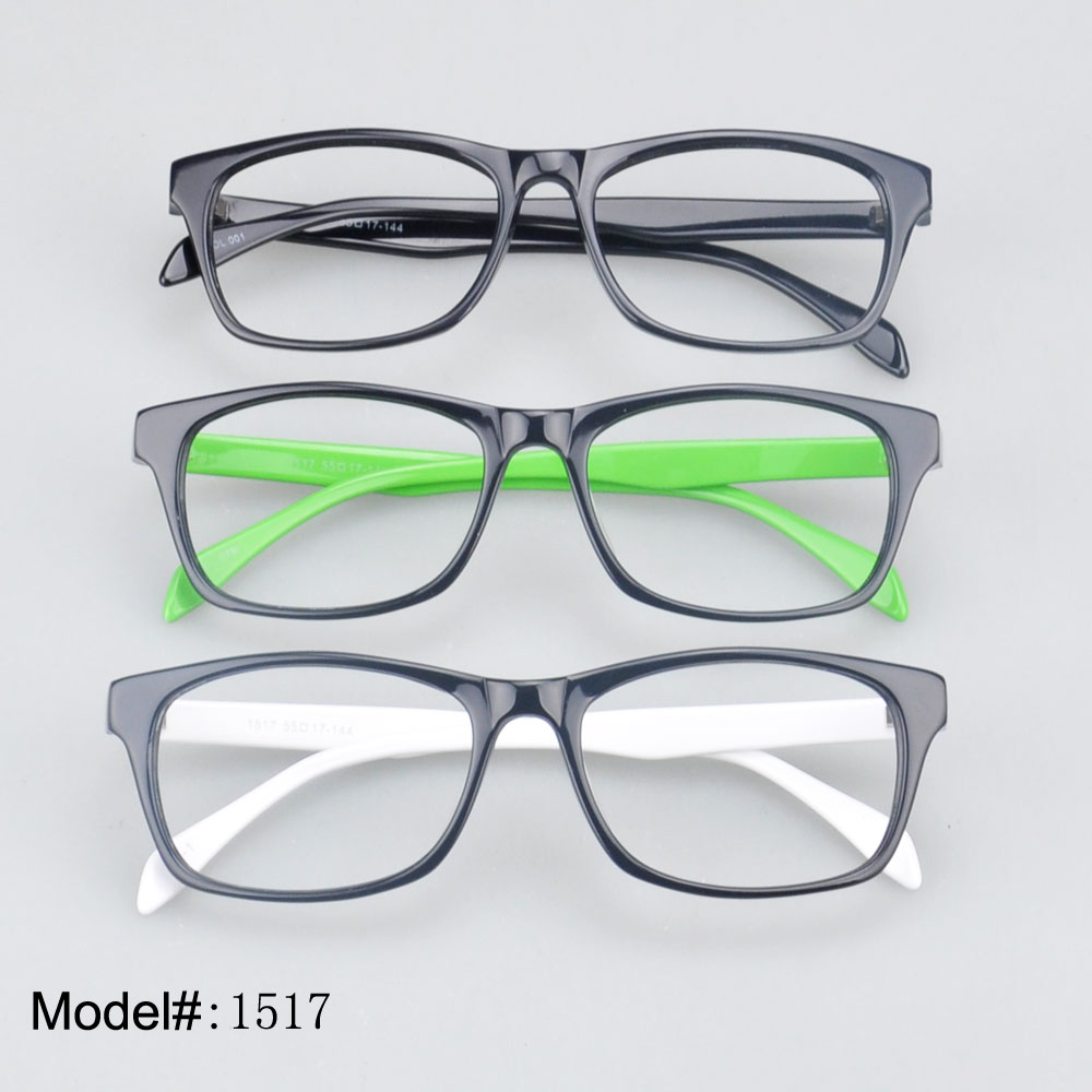 online optical ju6k  1517 Unisex full rim colorful acetate optical frame simple style online  store prescription myopia spectacles eyewear