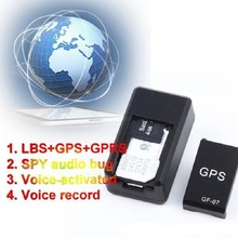 GF07 Mini GPS Tracker Car GSM GPRS GPS Locator Platform SMS Tracking Alarm Sound Monitor Voice Recording Track   Map location