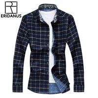 Sping Men S Shirts Check Casual Long Sleeve Plaid Shirt Autumn Winter Plus Size 5XL 6XL