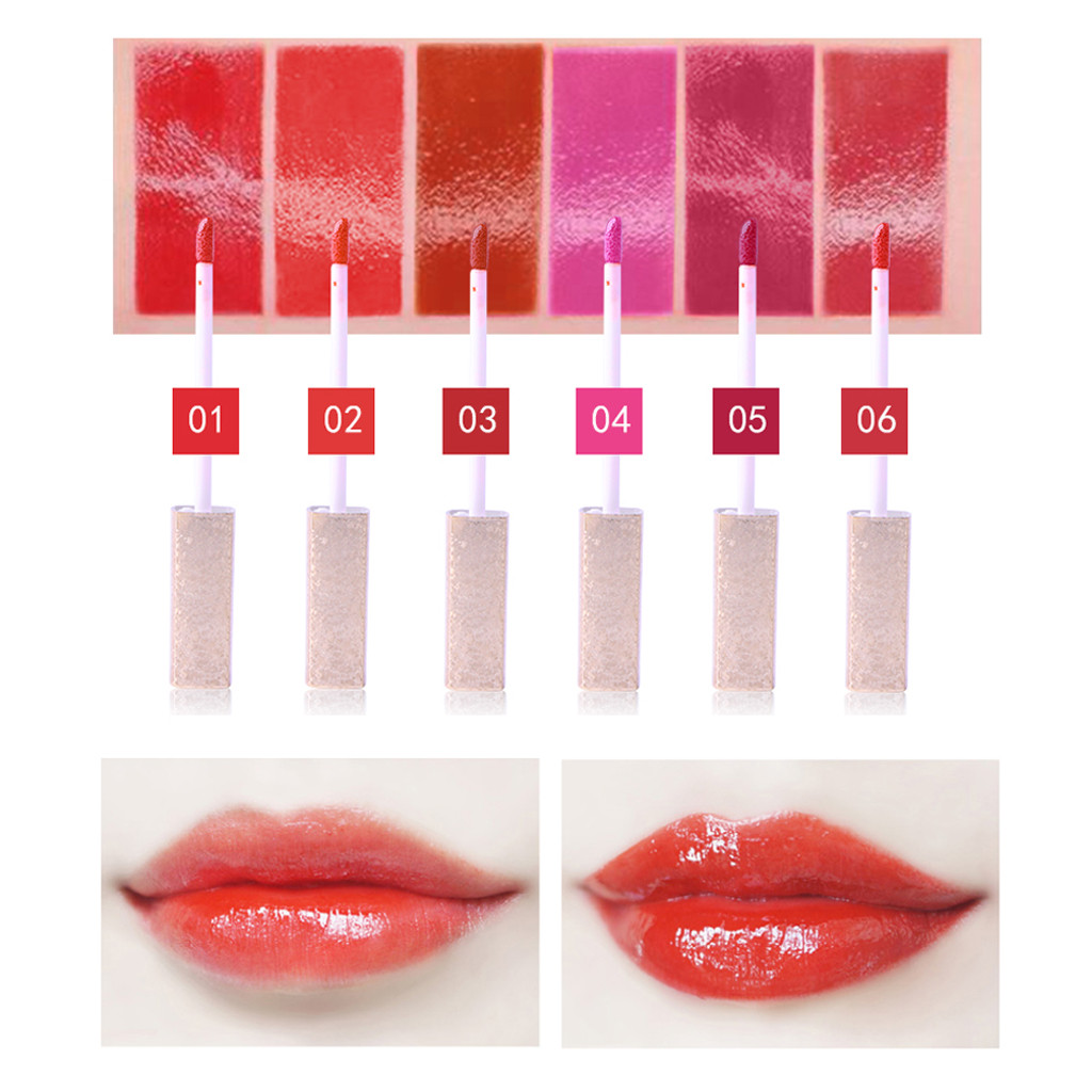 In Stock Delicate Mirror Sexy Liquid Lip Gloss Long Lasting Waterproof Keep 24 Hours cosmetics batom Wholesale Quick delivery in Lipstick from Beauty Health