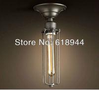Amerikan Tarzı Ferforje Eski Tavan Işık E27 Edison Ampul ile Yemek Odası için Toptan tavan lambası armatür