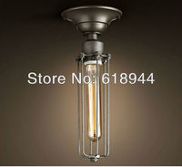 American Style Wrought Iron Vintage Ceiling Light With E27 Edison Light Bulb For Dinning Room Wholesale