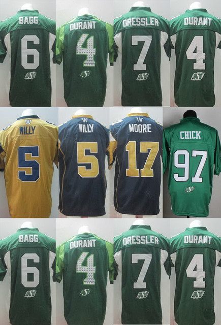 CFL Weston Dressler Chick Jersey 4 Darian Durant Jersey Rob Bagg Drew Willy  Nick Moore Football Jersey New Come c6fcccec9