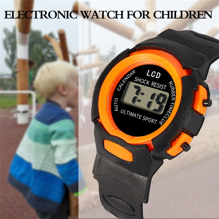 Digital Watches Children Girls Analog Digital LED Electronic Waterproof Sport Watches 2019 Children Wrist Watch #2019