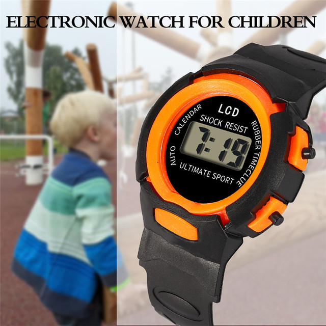 Digital Watches Children Girls Analog Digital LED Electronic Waterproof Sport Wa