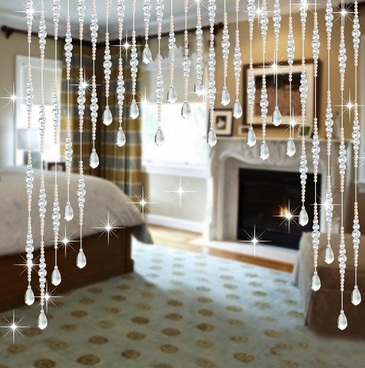 Aliexpress Com Buy Wedding Party Home Decorations Arylic Crystal Beads Rope Decor Curtain Hanging Screen On Wall Door Inside 1 Meter Beads From Reliable