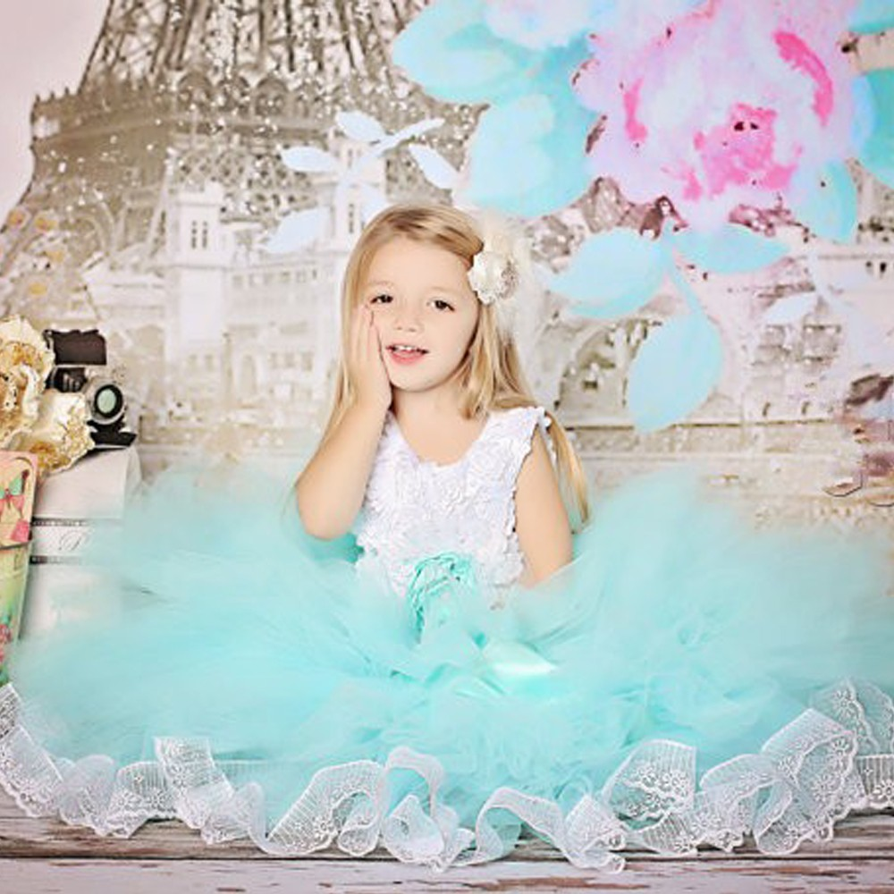 A-Line Flower Girls Dresses For Wedding Long Lace Party Dress Holy Communion Dresses With Mother Daughter Gowns 2-12 Year Old new holy pink flower girls dresses a line lace appliques 2017 wedding girl wear first communion dress vestidos de long sleeves