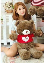 lovely teddy bear toy red sweater bear toy heart bear toy gift doll about 100cm