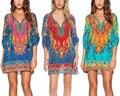 Mujeres Vintage impreso étnico Stylehippie boho bohemia verano vestido suelto