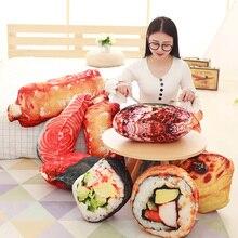Имитация подушка в виде еды свиные ребра суши мягкая подушка мультфильм двухсторонний принт подарок игрушки дети ребенок подарок на день рождения