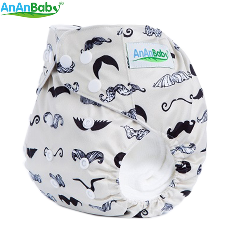 New Pattern 10pcs AnAnBaby Cartoon Baby Diaper Character Fitting Colored Cloth Nappies Without Inserts Covers In Lot