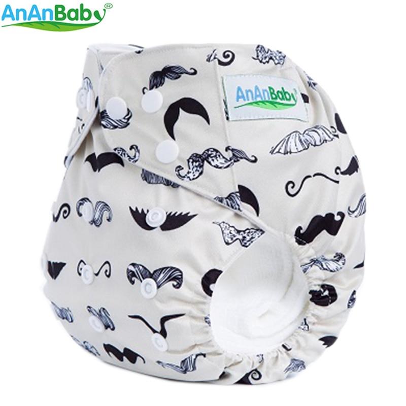 Nieuw patroon 10st AnAnBaby Cartoon Babyluier Karakter Fitting Gekleurde doek Luiers Zonder Inserts Covers In Lot