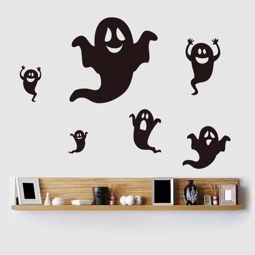 Halloween Ghost Phantom Wall Stickers DIY Home Decor Decals Poster  Decoration Removable Vinyl Cartoon Art Sticker For Festival In Wall  Stickers From Home ...