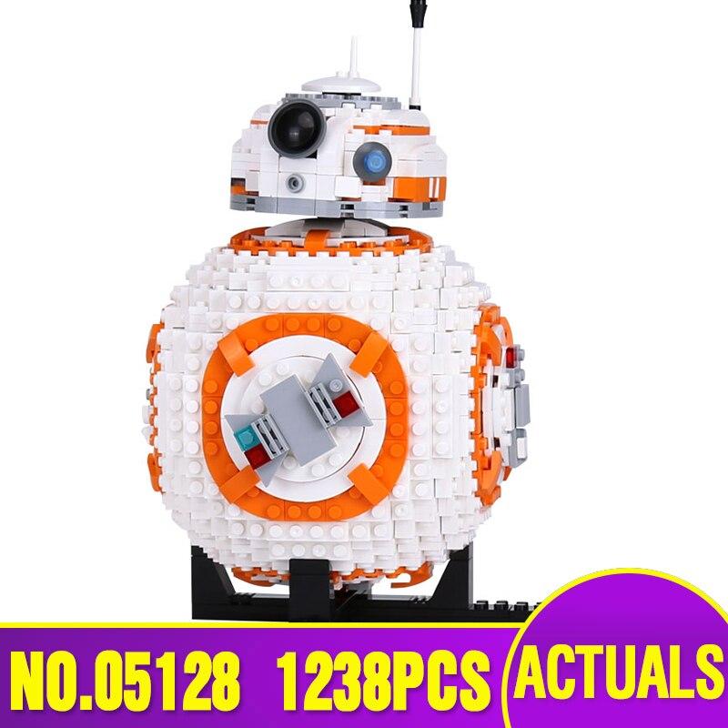 Dhl 05128 정품 스타 시리즈 전쟁 75187 bb 8 로봇 세트 빌딩 블록 벽돌 아이 조립 장난감 크리스마스 선물 모델로-에서블록부터 완구 & 취미 의  그룹 1