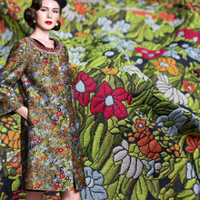 1Meter/Lot Autumn Jacquard Brocade Fabric Flower African Lace Sew Clothing Dress Material Patchwork 380G/M 140cm Width