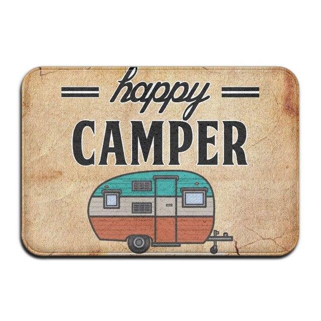 Happy Camper Floor mat Door Room Floor Mat Indoor Carpets Rag Bathmat Home Decor