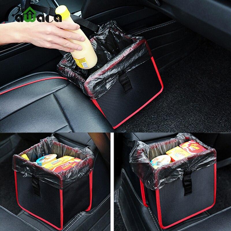 Prático Dobrável oxford saco de armazenamento de brinquedos roupas assento do carro fivelas saco de Lixo lixeira Organizador do Tronco para o carro SUV