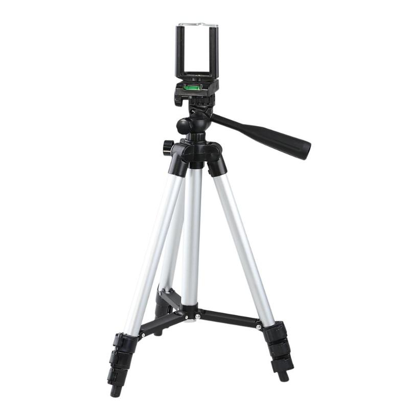 Professional Foldable Aluminum Camera Tripod Stand 360 Degree Fluid Head With Phone Clip Holder For iPhone Samsung xiaomi