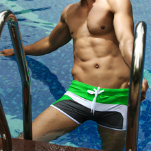Hot sell swimming Trunks Men's Boxers Beach shorts Hi-Q Swimwear with Pocket trunks Sexy Hot springs Sports suit Men Swimsuit