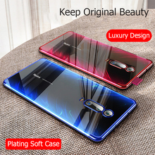 MUCHI For Xiaomi Mi 9T Pro Case Luxury Laser Plating Soft Clear Back Co